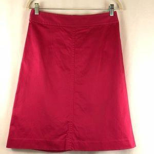 🥰🥰 Banana Republic Pink Knee Length Skirt Sz 4